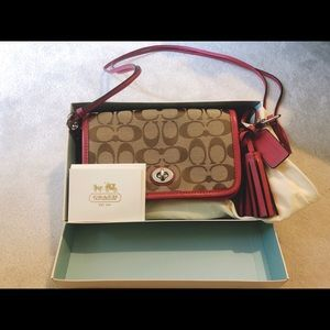Coach 21153 Legacy Signature Penny Shoulder Purse